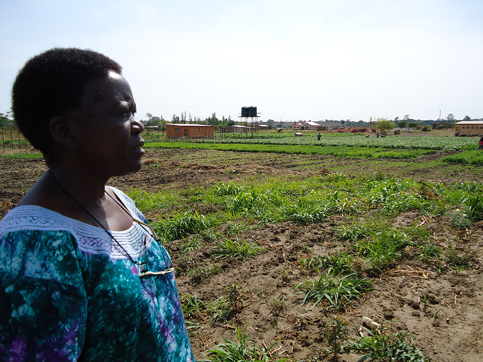 Angela Malik (Founder and Director of the Kondwa Centre for Orphans, Seko House and Pakachele Elementary School) at the Pakachele School Farm.