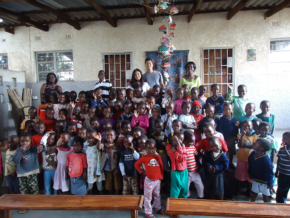 Deborah Rodrigo and Gary S. Morales (Project ChildCare Foundation Executive Directors) with the children and staff of the Kondwa Centre for Orphans. November, 2010.