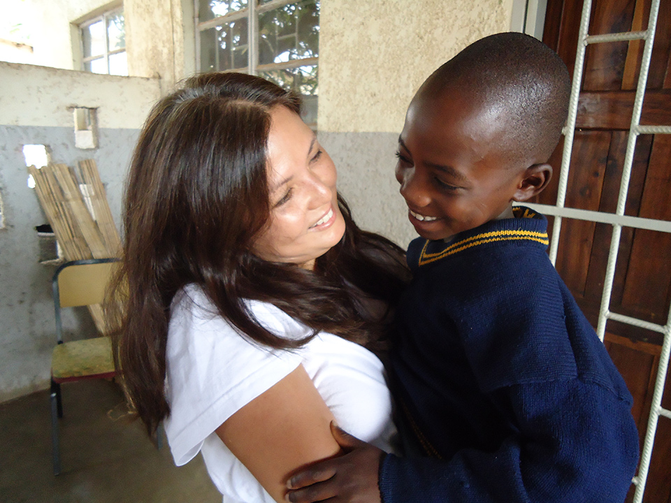 Deborah Rodrigo (Project ChildCare Foundation, Co-Executive Director) at the Kondwa Centre for Orphans.