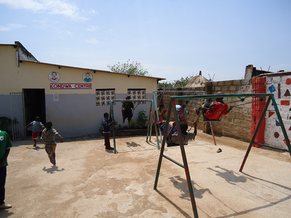 Play time at the Kondwa Centre.